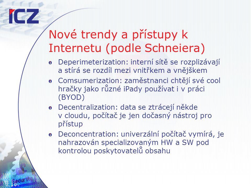 Nové trendy a přístupy k Internetu (podle Schneiera)