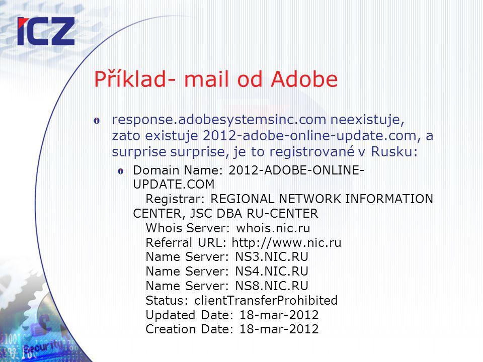 Příklad- mail od Adobe
