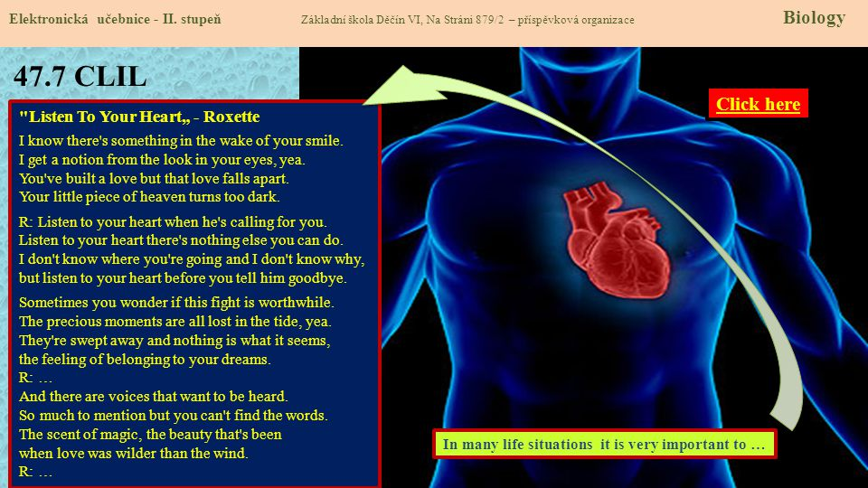 "47.7 CLIL Click here Listen To Your Heart"" - Roxette"
