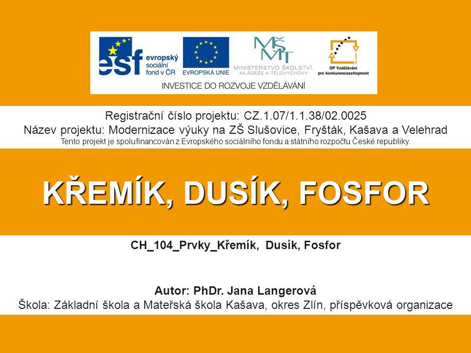 CH_104_Prvky_Křemík, Dusík, Fosfor