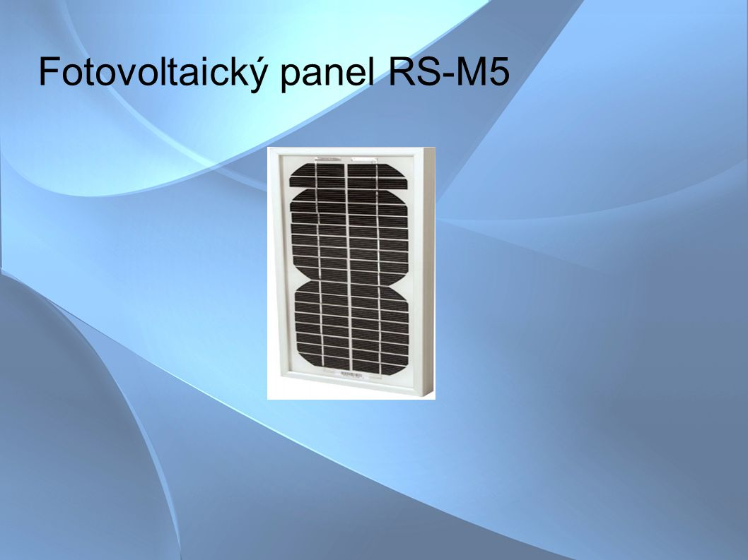 Fotovoltaický panel RS-M5