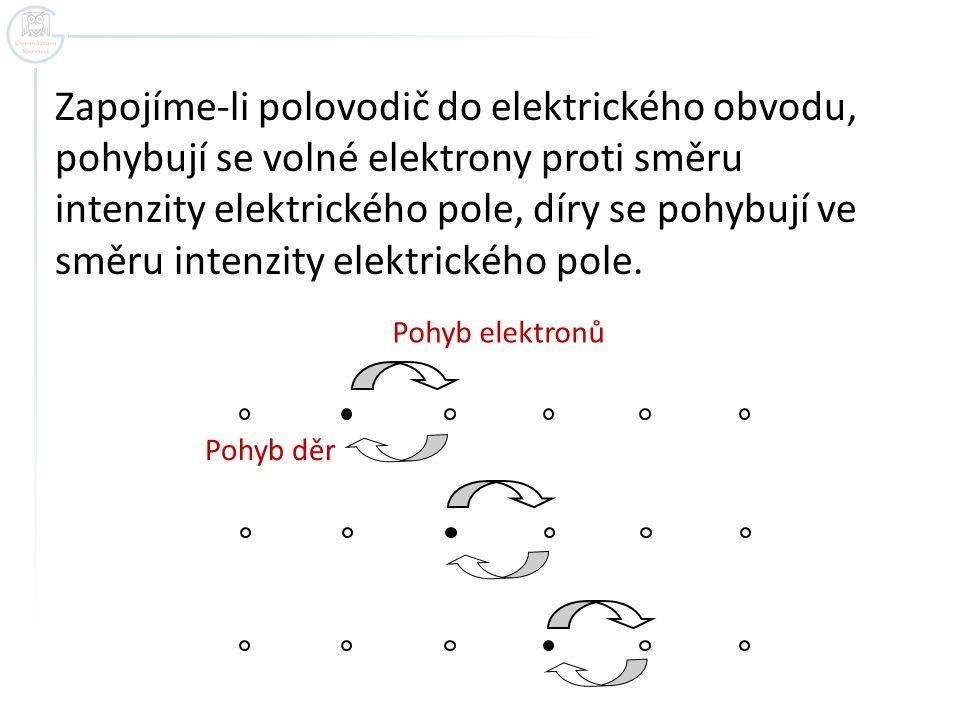 Zapojíme-li polovodič do elektrického obvodu,
