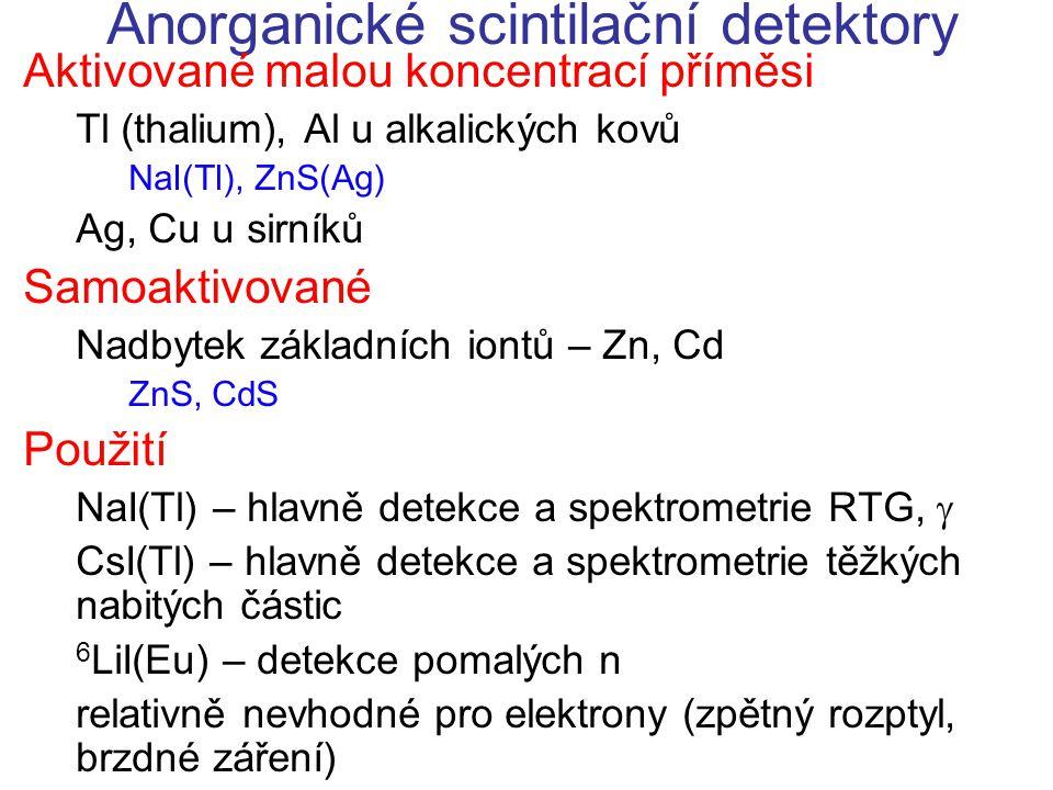 Anorganické scintilační detektory