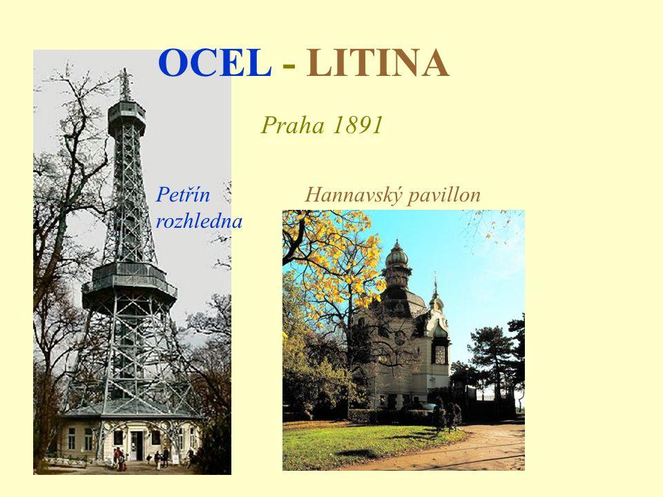 OCEL - LITINA Praha 1891 Petřín rozhledna Hannavský pavillon