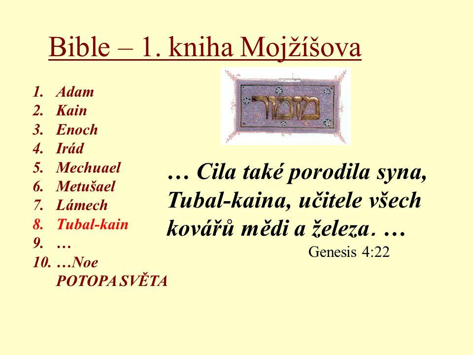 Bible – 1. kniha Mojžíšova