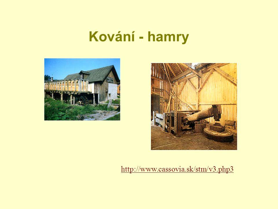 Kování - hamry http://www.cassovia.sk/stm/v3.php3