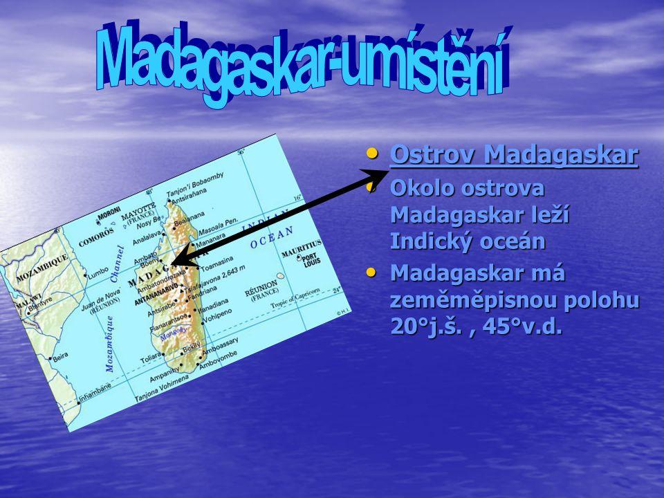 Madagaskar-umístění Ostrov Madagaskar