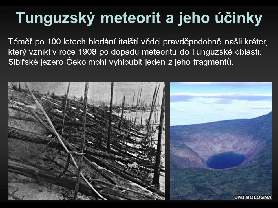 Tunguzský meteorit a jeho účinky
