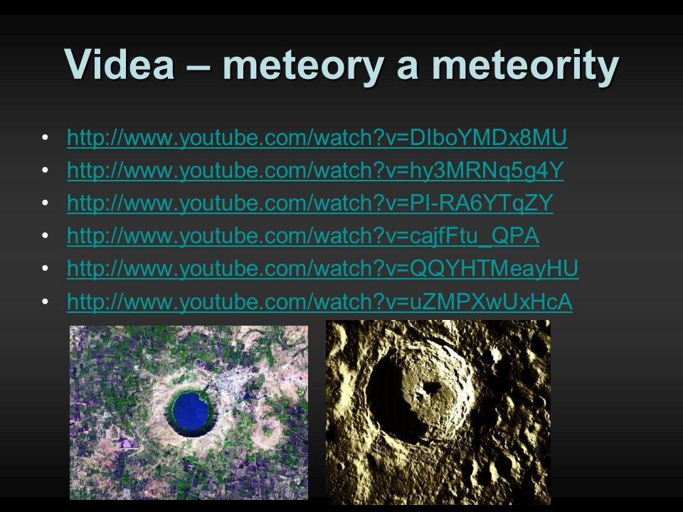 Videa – meteory a meteority