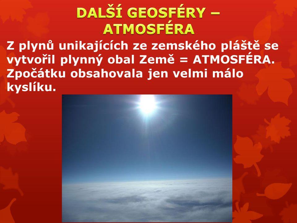 DALŠÍ GEOSFÉRY − ATMOSFÉRA
