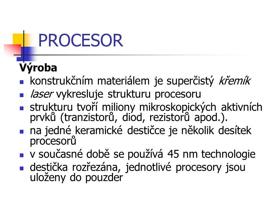 PROCESOR Výroba konstrukčním materiálem je superčistý křemík