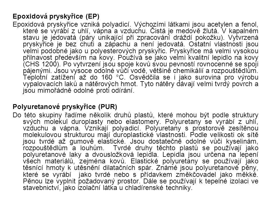 Epoxidová pryskyřice (EP)