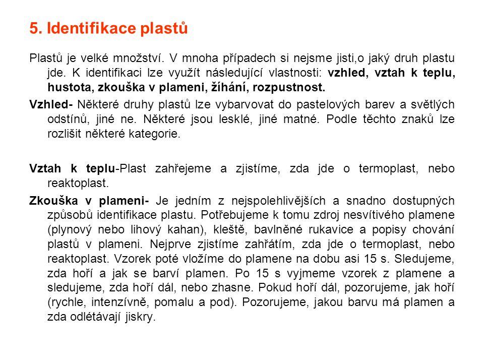 5. Identifikace plastů