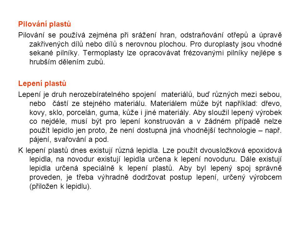 Pilování plastů