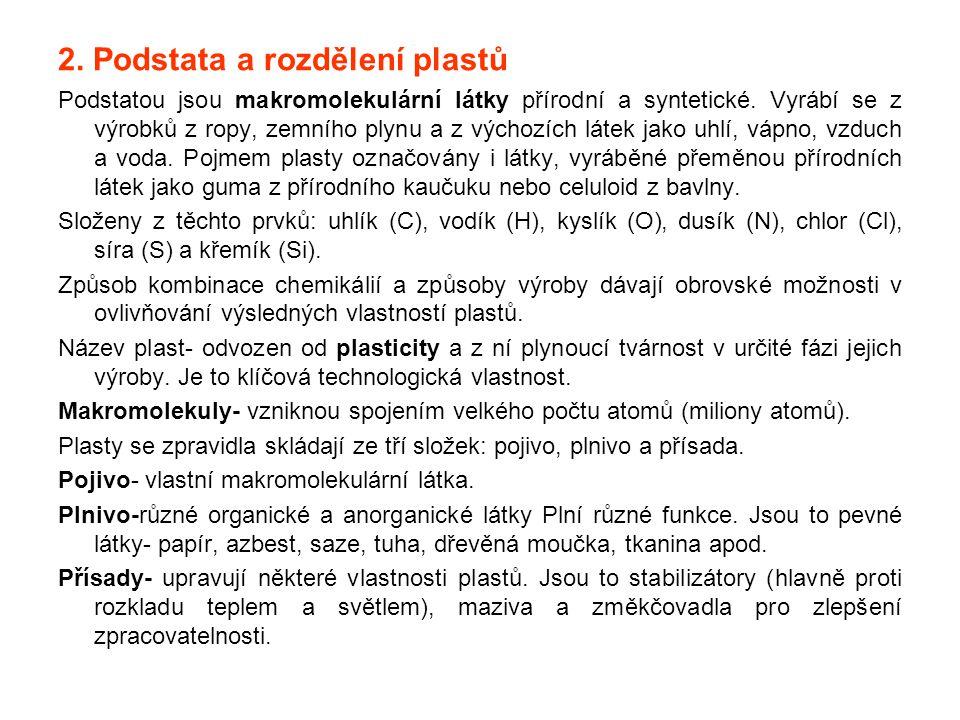 2. Podstata a rozdělení plastů