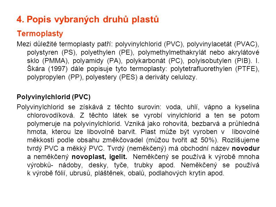 4. Popis vybraných druhů plastů