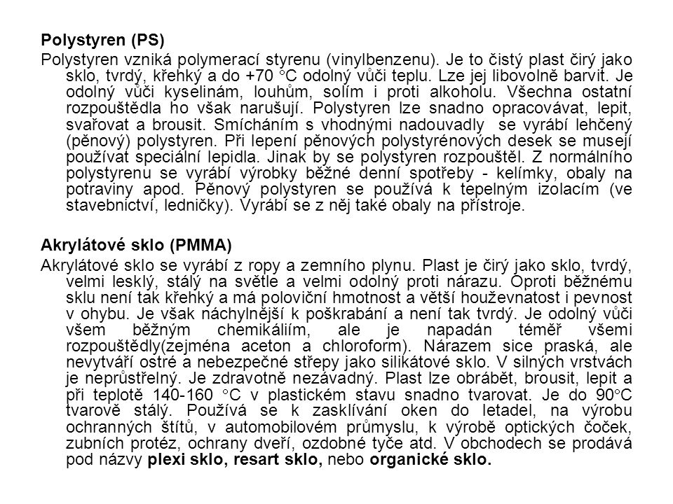 Polystyren (PS)