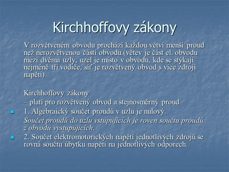 Kirchhoffovy zákony
