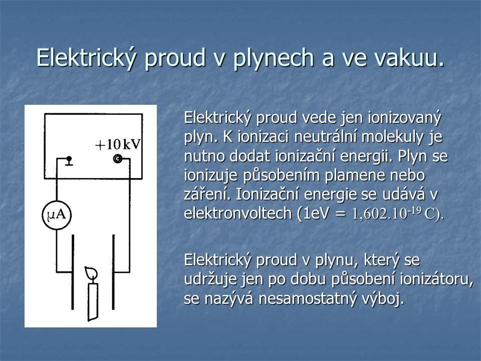 Elektrický proud v plynech a ve vakuu.