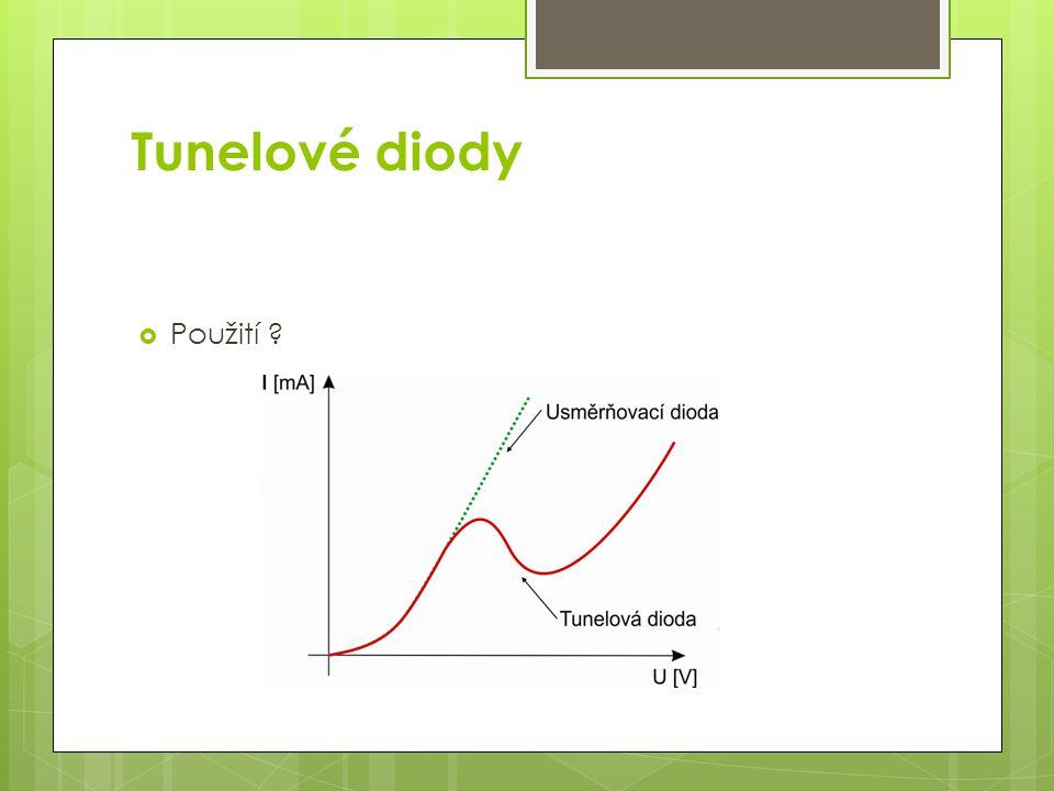 Tunelové diody Použití