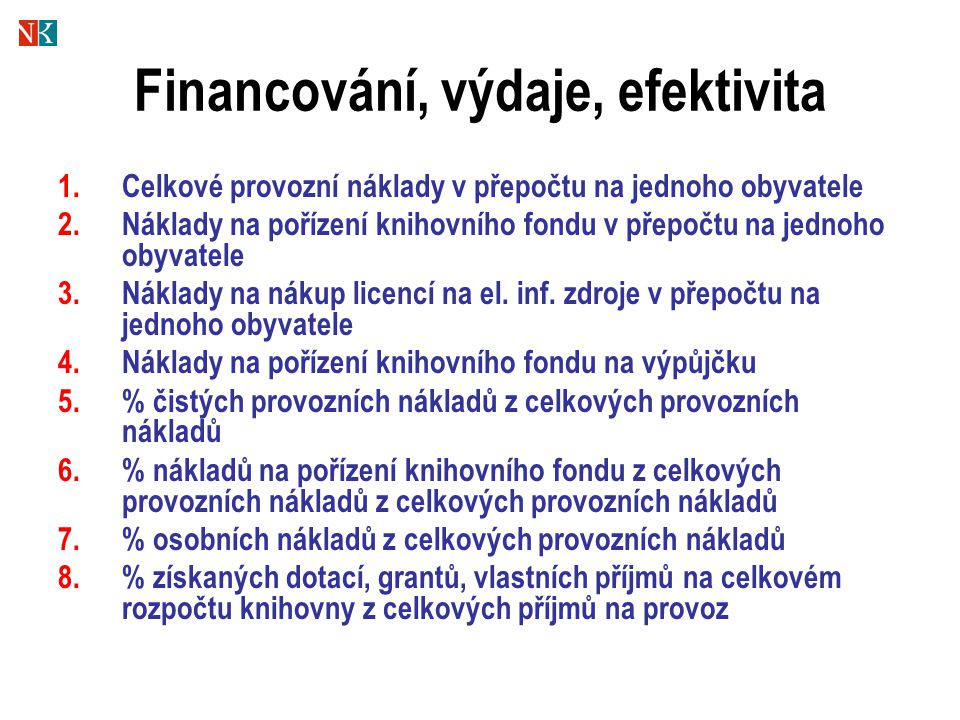 Financování, výdaje, efektivita