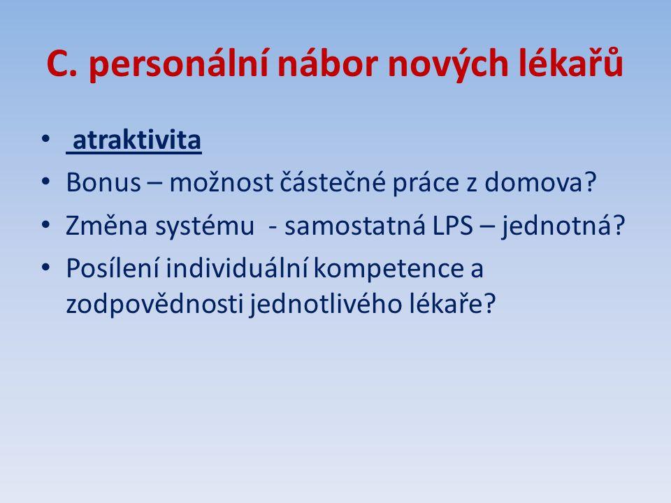 C. personální nábor nových lékařů