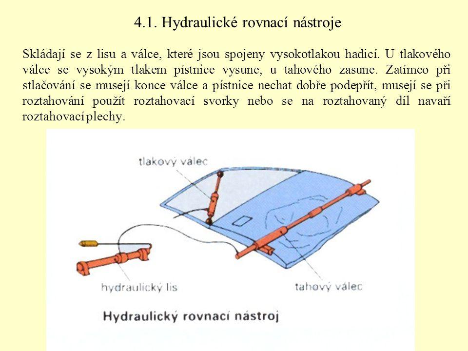 4.1. Hydraulické rovnací nástroje