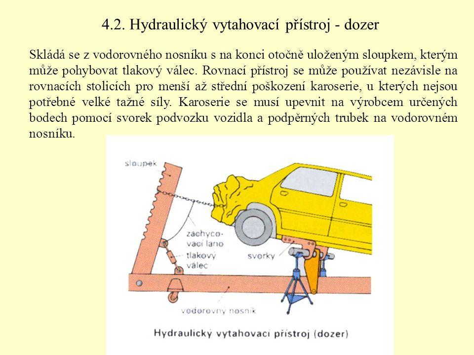 4.2. Hydraulický vytahovací přístroj - dozer