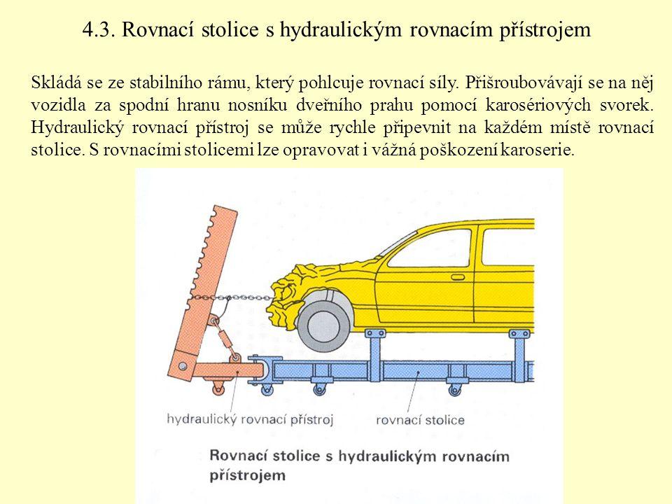 4.3. Rovnací stolice s hydraulickým rovnacím přístrojem