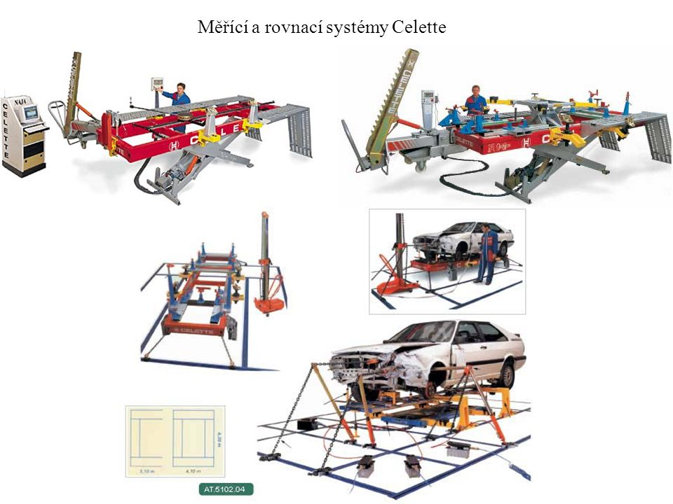 Měřící a rovnací systémy Celette