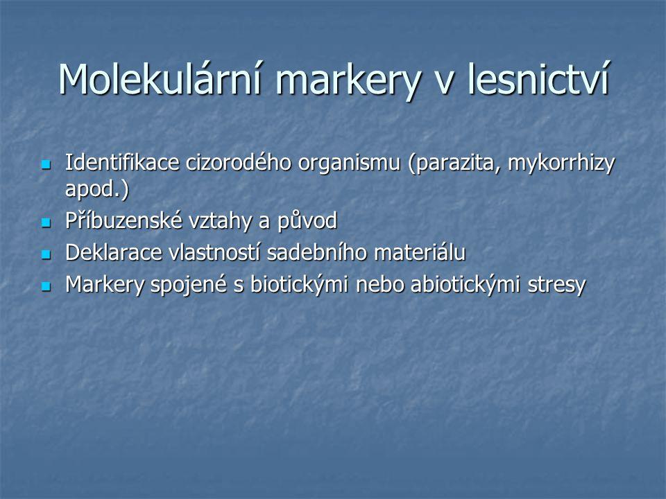 Molekulární markery v lesnictví