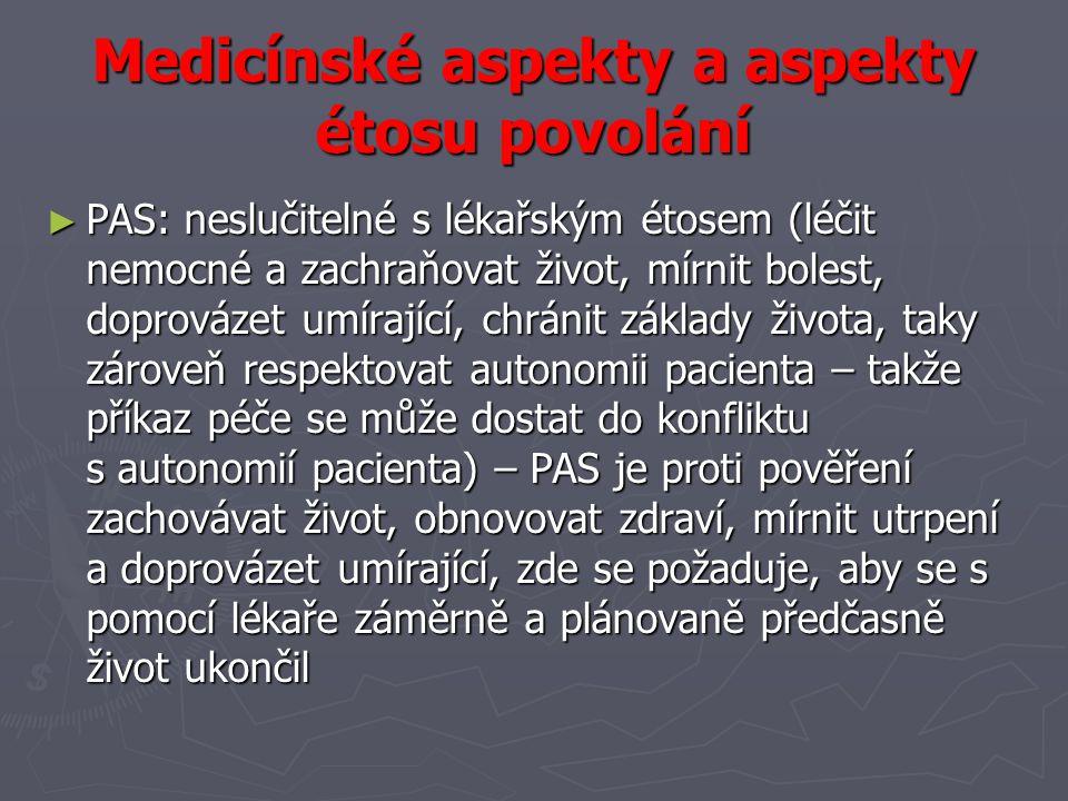 Medicínské aspekty a aspekty étosu povolání