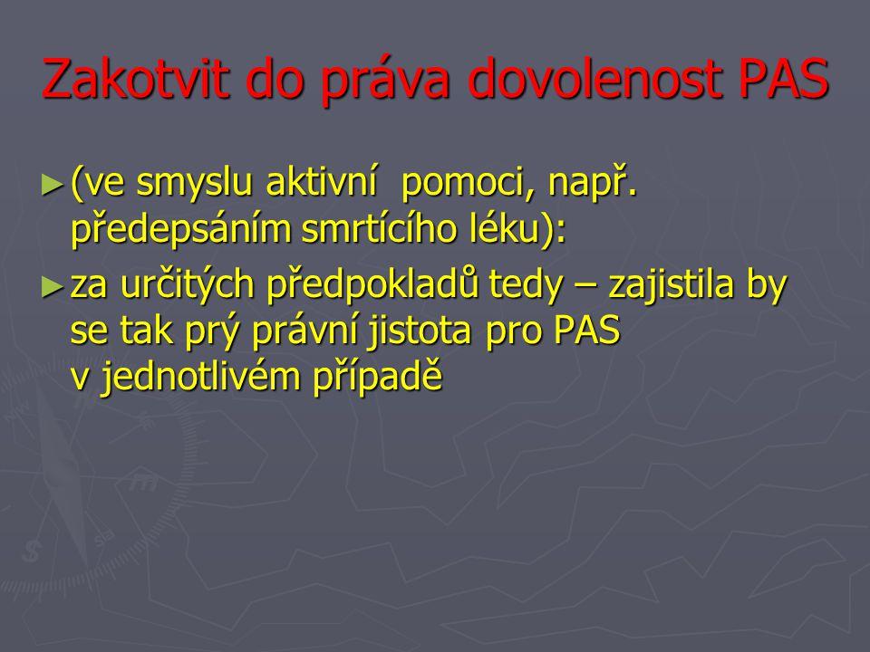 Zakotvit do práva dovolenost PAS
