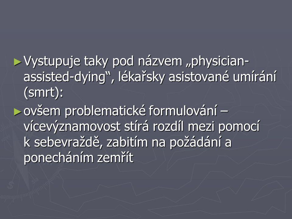 """Vystupuje taky pod názvem """"physician-assisted-dying , lékařsky asistované umírání (smrt):"""