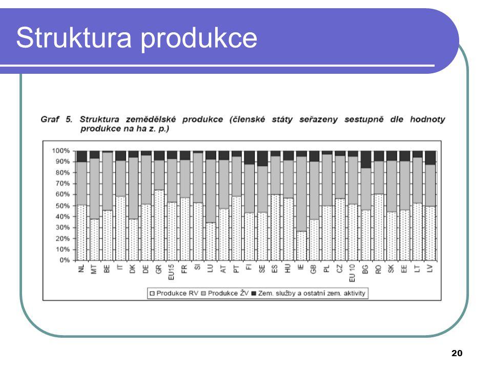 Struktura produkce