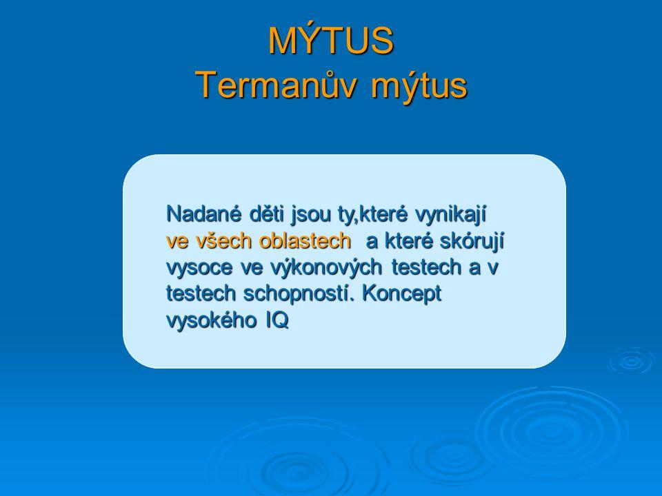 MÝTUS Termanův mýtus