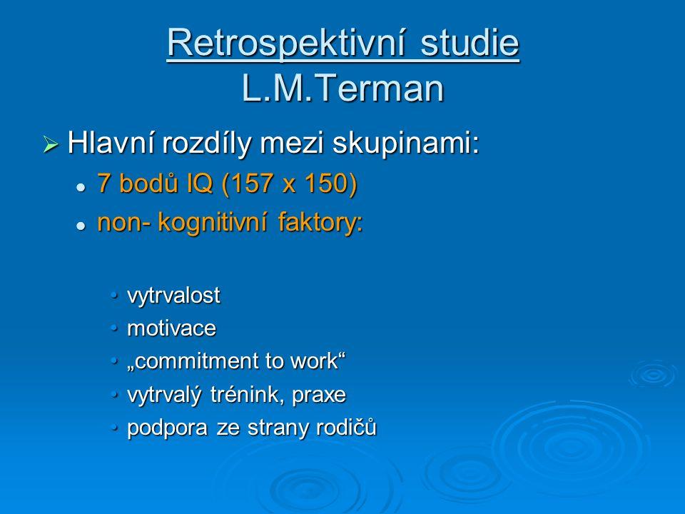 Retrospektivní studie L.M.Terman