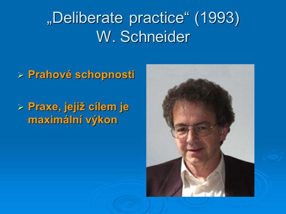"""""""Deliberate practice (1993) W. Schneider"""