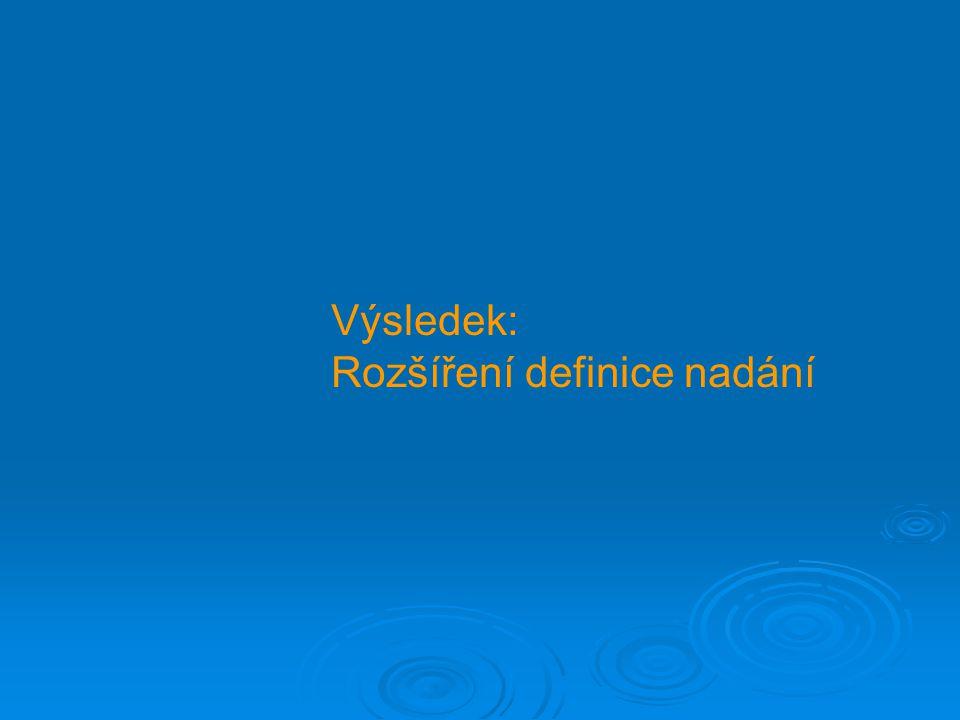 Výsledek: Rozšíření definice nadání