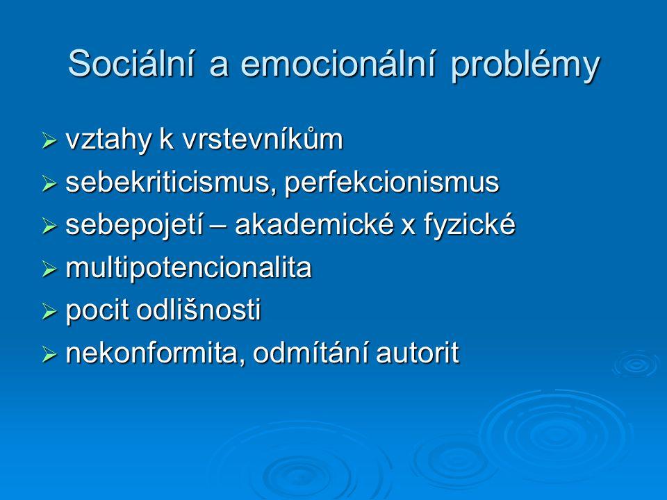 Sociální a emocionální problémy