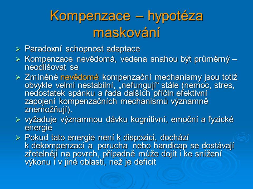 Kompenzace – hypotéza maskování