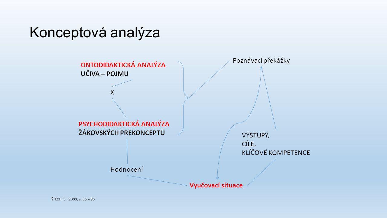 Konceptová analýza Poznávací překážky