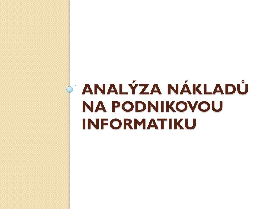 Analýza nákladů na podnikovou informatiku