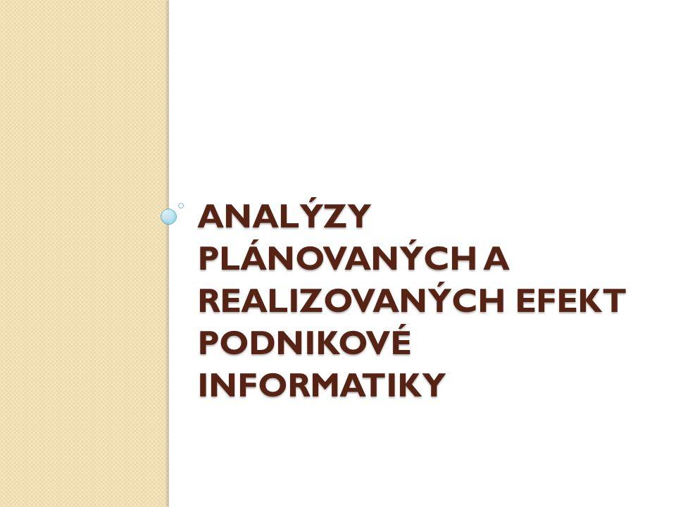 Analýzy plánovaných a realizovaných efekt podnikové informatiky