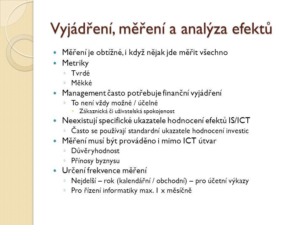 Vyjádření, měření a analýza efektů
