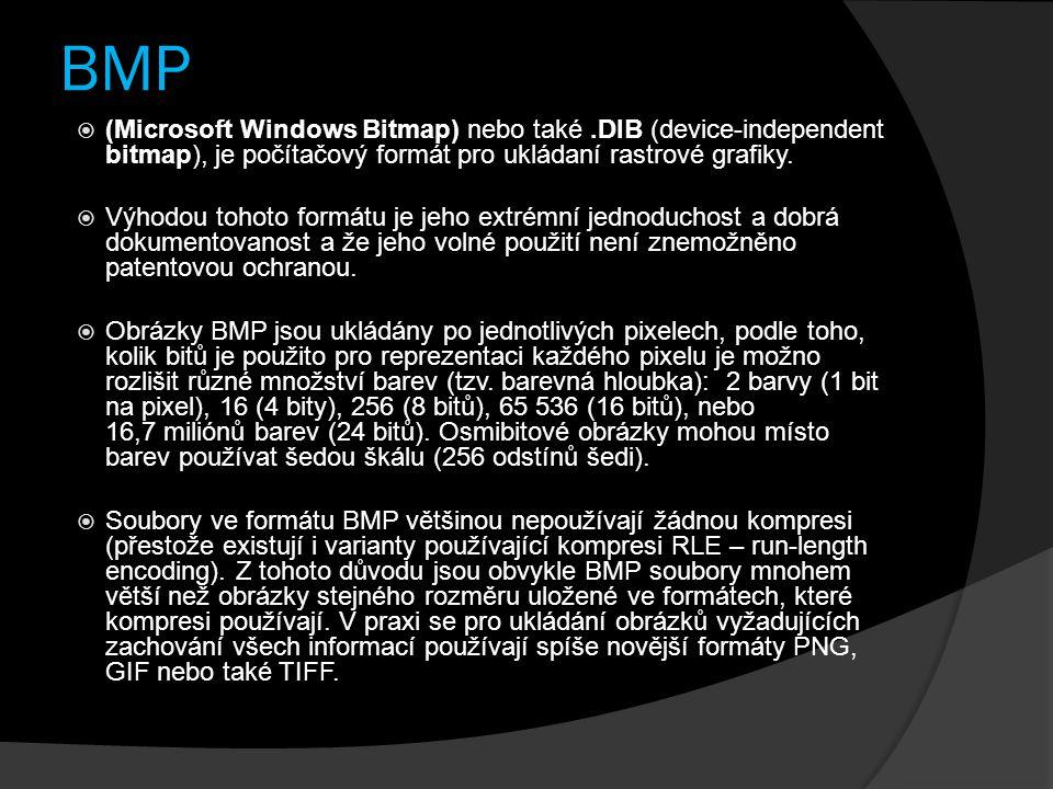 BMP (Microsoft Windows Bitmap) nebo také .DIB (device-independent bitmap), je počítačový formát pro ukládaní rastrové grafiky.