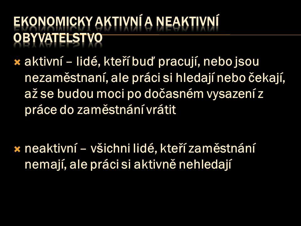 ekonomicky aktivní a neaktivní obyvatelstvo