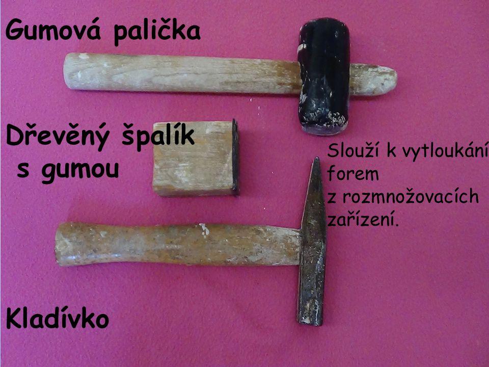 Gumová palička Dřevěný špalík s gumou Kladívko