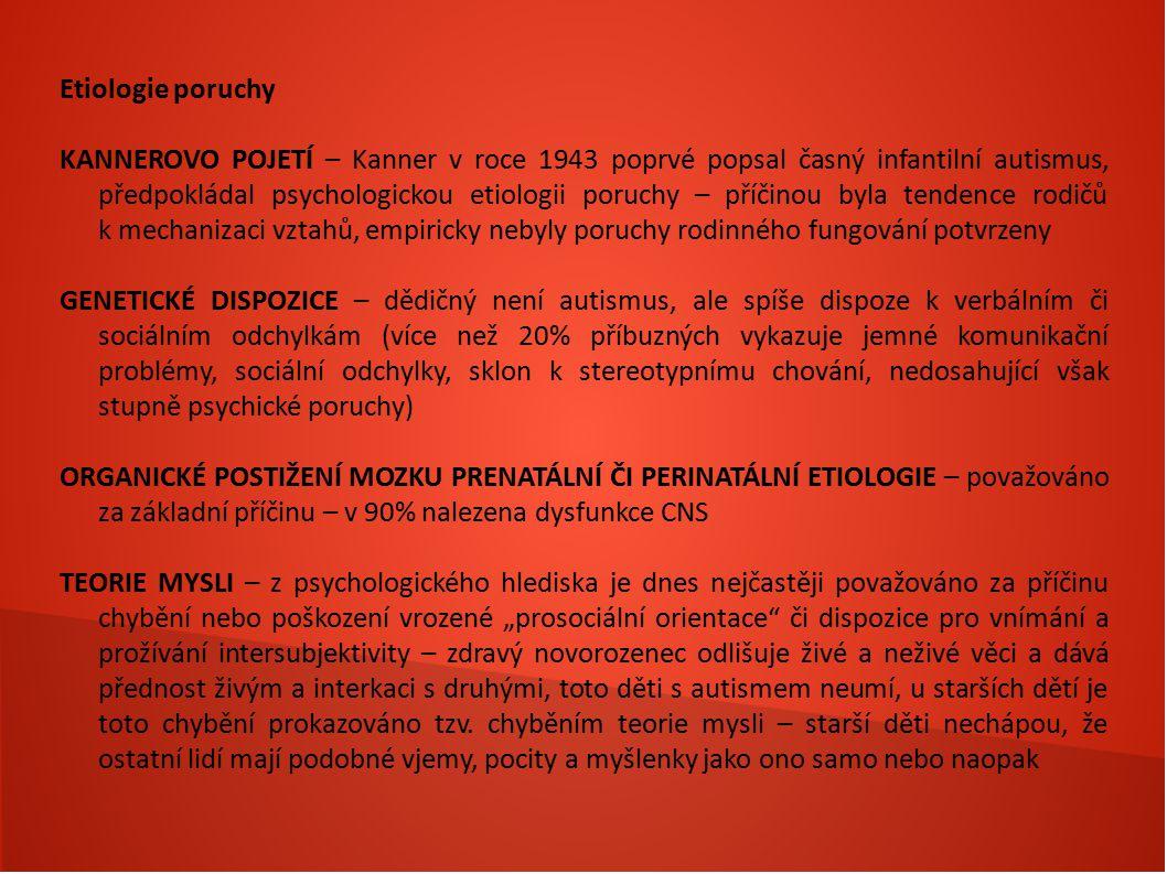 Etiologie poruchy