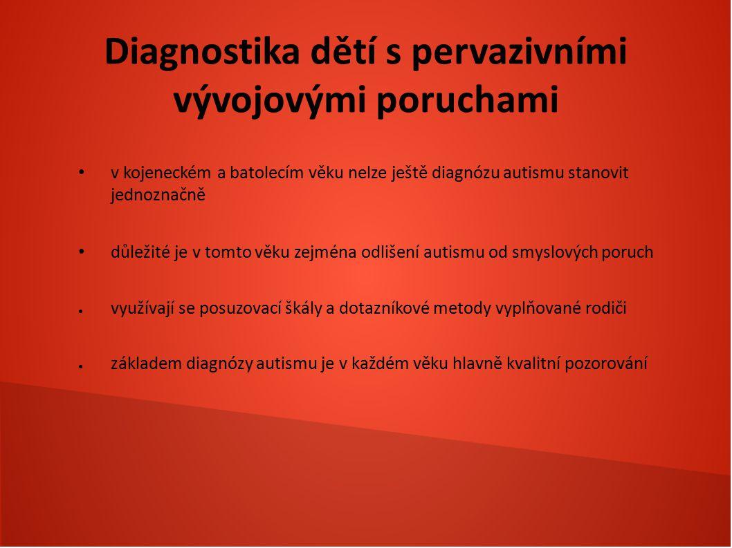 Diagnostika dětí s pervazivními vývojovými poruchami